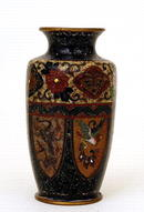 Old Japanese Hexagon Phoenix Cloisonne Vase