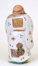 Meiji Japanese Kutani White Robe Hotei Figurine