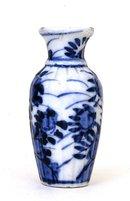 Meiji Japanese Blue & White Imari Scallop Vase