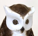 2 Old Japanese Kutani Owl Bookends Figurine