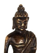 19C Chinese Tibetan Bronze Mini Seated Buddha