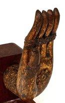 18C Chinese Tibetan Gilt Bronze Buddha Hand
