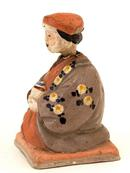 Japanese Kyoto Pottery Satsuma Nodder Doll