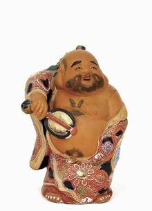 Japanese Kutani Moriage Hotei Figurine 7 God