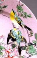 Old Japanese Studio Imari Pink Shark Skin Plate