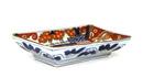5 Japanese Imari Porcelain Rect. Chicken Plate