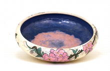 Japanese Export American Satsuma Flower Bowl