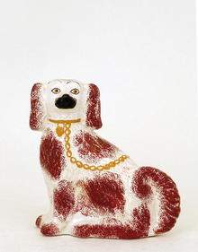 Antique Staffordshire Spaniel Dog Figure