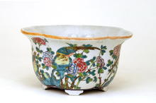 Chinese Famille Rose Flower & Bird Planter