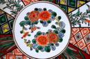 Japanese Imari Kutani Tapestry & Iris Charger