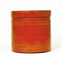 Old Burmese Thai Red Lacquer Betel Box