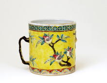 Old Chinese Export Famille Rose Cup Tankard Mug