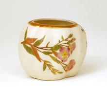 Antique Royal Worcester Jar Flora Pattern Mk