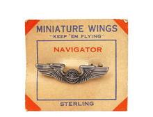 Vintage Sterling Air Force Navigator Wings