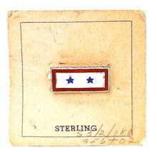 Vintage Military WWII Sterling Silver 2 Stars Sweetheart Pin