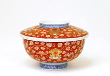 Old Japanese Imari Cover Bowl w Phoenix Mk