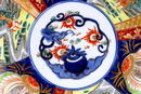 Old Japanese Imari Charger Plate w Dragon