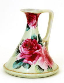 Old Japanese Nippon Rose Pitcher or Ewer