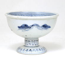 19C Japanese Blue & White Imari Sake Cup Washer