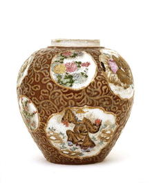 Old Japanese Imari Studio Chinese Sage Jar Sg