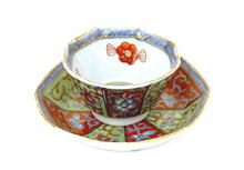 19C Chinese Export Dutch Cup & Saucer Melon