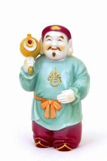 Japanese Kutani Toshikane Diakoku Figurine Sg