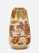 Old Japanese Kutani Satsuma Style Vase Sg