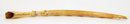 Old African Ivory Tusk 9 Elephant Train w Crocodile
