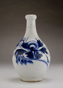 Old Japanese Blue & White Imari Sake Bottle