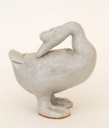 Old Japanese Kutani Goose Duck Bird Figurine Sg