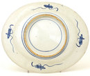 Old Japanese Celadon Blue & White Imari Platter