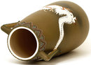Lg Old Japanese Satuma Moriage Dragon Vase