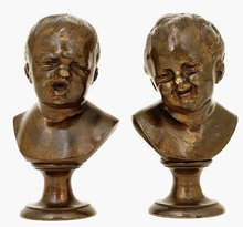 2 18C French English Gilt Bronze Boy Bust