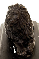 Vintage Art Deco Style Bronze Lion Sculpture