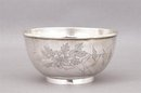 Old Chinese Export Silver Bowl w Coin Mk