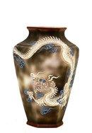 Old Japanese Noritake Dragonware Vase Nippon Mk