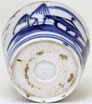 4 19C Japanese Blue & White Imari Soba Choko