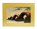 Japanese Woodblock Print Bridge Sg