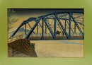 Japanese Woodblock Print Bridge Sg