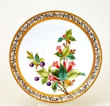 Antique Royal Worcester Relief HP Plate Mk