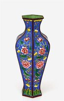 Old Chinese Export Enamel Cloisonne Vase w