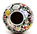 Old Chinese Famille Rose Verte Mille Fleur Vase