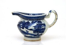 Chinese Export Nanking Blue White Pitcher Gravy