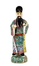 Old Chinese Export Famille Rose Figurine Figure