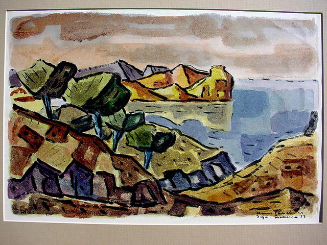 Hans Gassebner German Cubist Watercolor