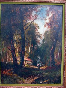 Diaz de la Pena School Barbizon Painting