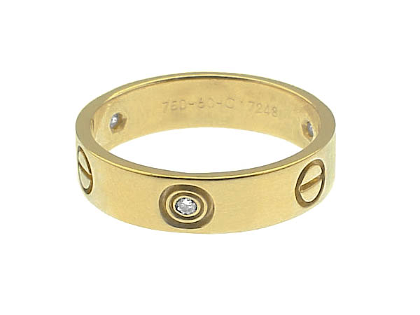CARTIER 18K GOLD & DIAMOND LOVE RING w/BOX