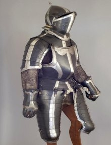 South German Black & White Officer's 3/4 Armor, ca. 1560-70