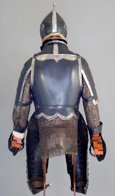 South German Black & White Officer's 3/4 Armor, ca. 1560-70