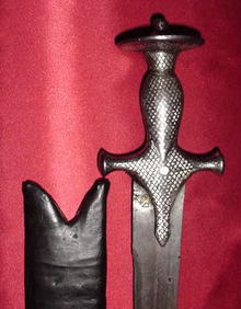 Indian Tulwar Sabre, Silvered Hilt and Damascus Blade, early 19th C